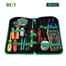 16in1 Household Profession Multi purpose Repair Tool Set With Soldering Iron Digital Mulimeter For Smart Phone Laptop PC Tablet