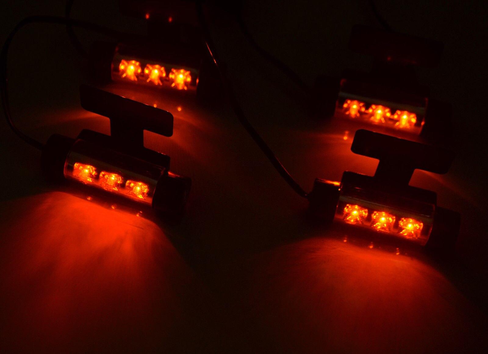 Universal 4x3Led Car Charge 12V Glow Interior Decorative Atmosphere Light
