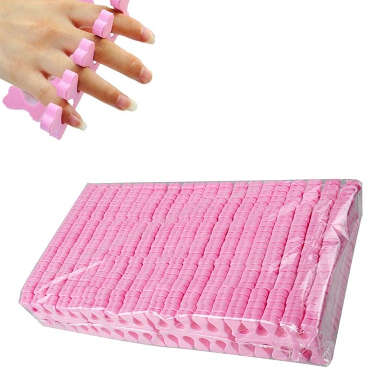 Biutee 200pcs/lot Soft Foam Sponge Finger Toe Separator Manicure For DIY Nail Art Salon Tools Feet Care Manicure Pedicure Tools