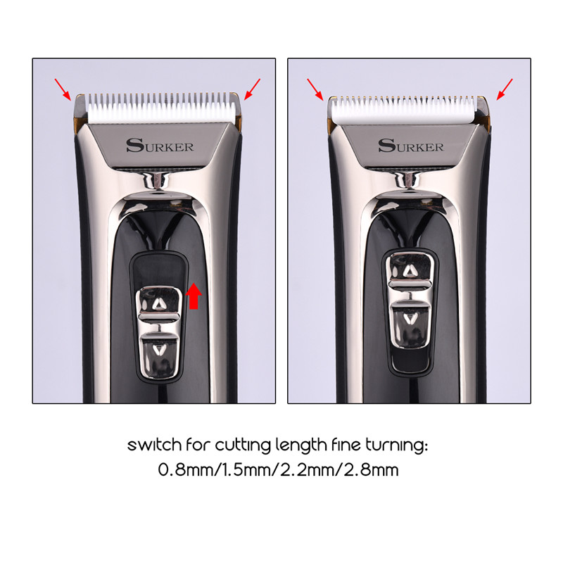 110-240V Professional Hair Clipper Titanium Ceramic Blade Rechargeable Hair Trimmer LED Electric Hair Cutting Machine Iron 110 240v low noise rechargeable hair trimmer titanium blade 0 8 2 0mm adjustable hair clipper with 4 limit comb km 6688 s43
