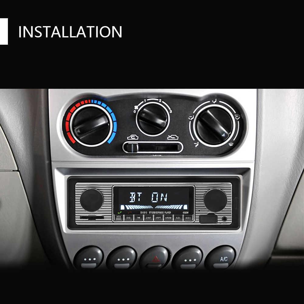 Hikity Autoradio Bluetooth 1 Din Mobil Radio Bluetooth Vintage Auto Stereo MP3 Player Stereo USB AUX SD Klasik Mobil Stereo audio