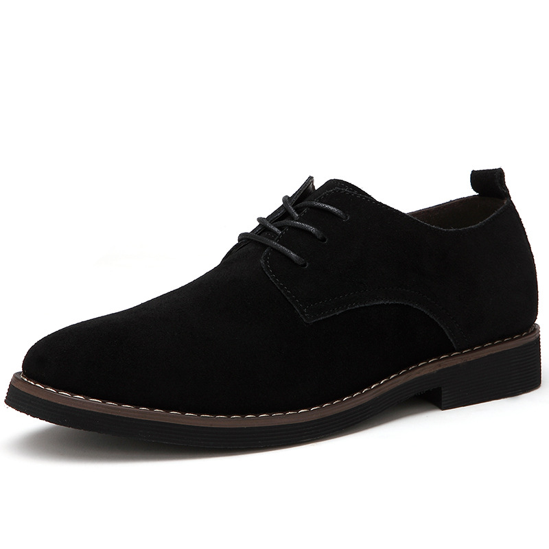 Plus Size 38-48 Oxford Men Shoes PU Suede Leather Spring Autumn Casual Men Leather Shoes Male Dress Shoes 4