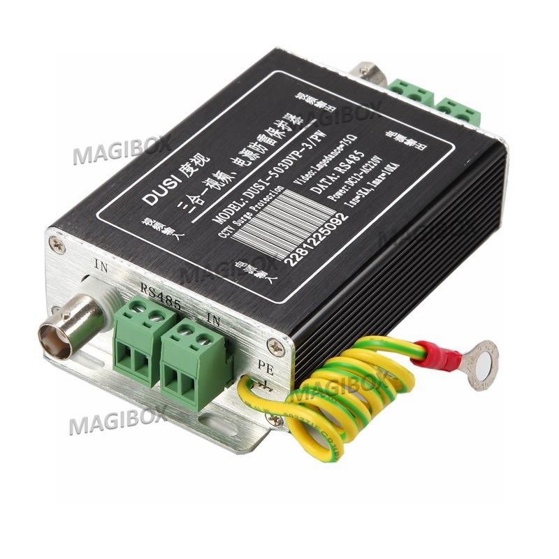 RS485 Power BNC Analog Signal Lightning Protection For CCTV