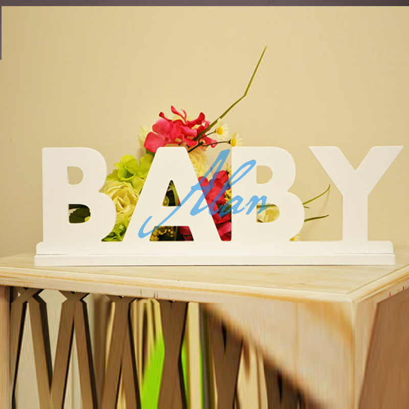 Pvc Name Sign Baby Plaque Large Personalized Nursery Decor Wooden Wall Art In Figurines Miniatures From Home Garden On Aliexpress