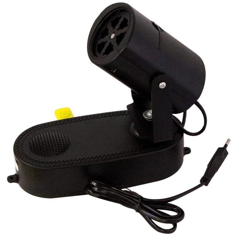 RGB Led éclairage de scène Effet RGBW 4W 110V 220V Projecteur laser Musique USB MP3 tournant DJ Disco Party lampe de scène EU / US