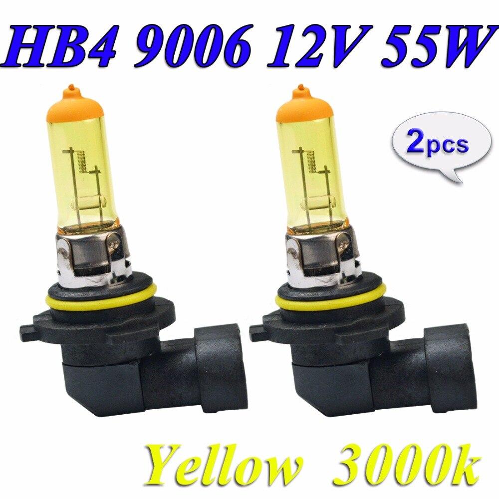 Hippcron галогенная лампа HB4 9006 2 шт. желтая 12В 55 Вт P22d 3000K Автомобильная фара лампа кварцевое стекло