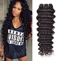 Brazillian Deep Wave Virgin Hair 3 Bundles 7A Brazilian Virgin Hair Deep Wave Brazilian Hair Deep Curly Weave Human Hair Bundles