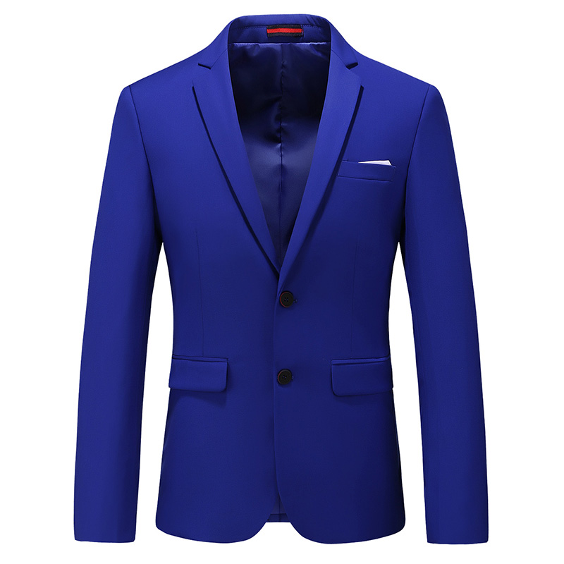 MOGU Men's 2019 New Style Fashion High Quality Blazers Casual Slim Fit Two Buttons Suit Pop Solid Blazer Coat Man Large 6XL