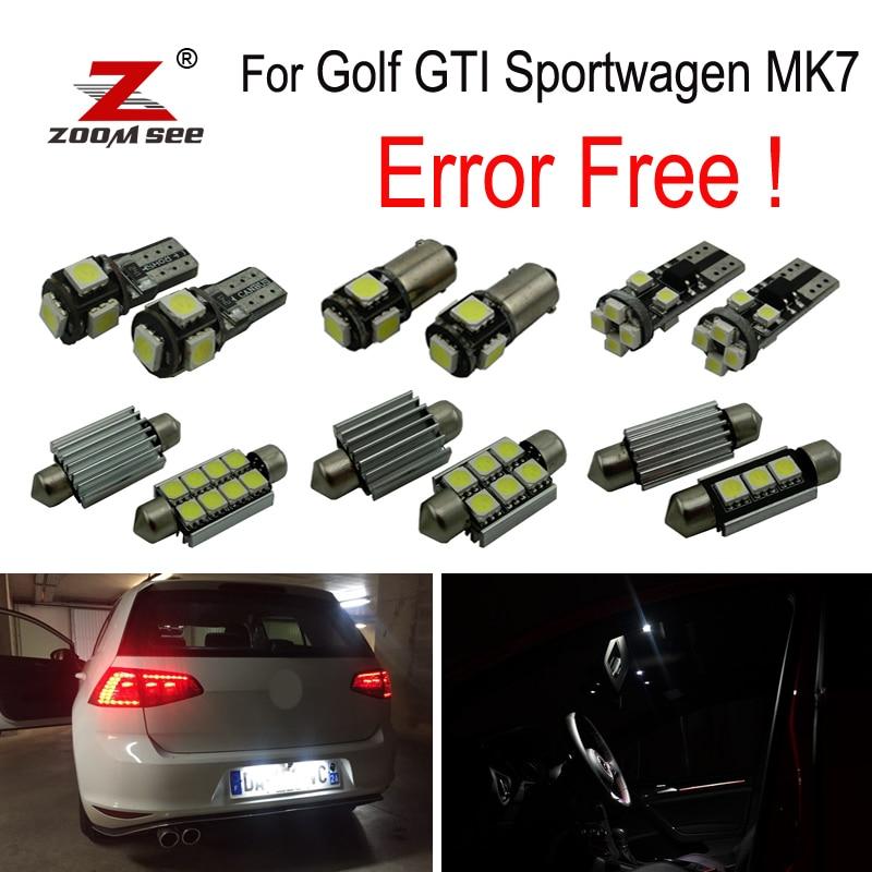 14pcs LED License Plate lamp + Decoder for VW Golf 7 MK7 MKVII Golf GTI sportwagen LED Interior dome Light Kit (2014+) подогреватели и стерилизаторы liko baby электрический стерилизатор lb 0633