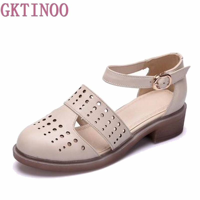 2018 Brand women sandals female handmade genuine leather women comfortable flat shoes sandals gladiator women summer shoes S105 handmade genuine leather women s shoes vintage national trend cutout shoes flat shoes comfortable women s sandals free shipping page 1