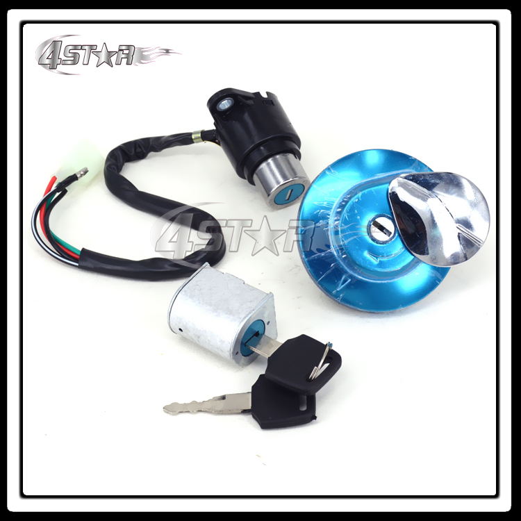 Metal Motorcycle Lockset Ignition Key Switch Fuel Gas Cap Lock Keys For REBEL 250 CMX250 CMX450 MAGNA 250 All Years