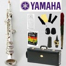 Marca YSS-475 Plateado Saxofón Soprano B plana jugar profesionalmente una recta Top Instrumentos Musicales de calidad profesional