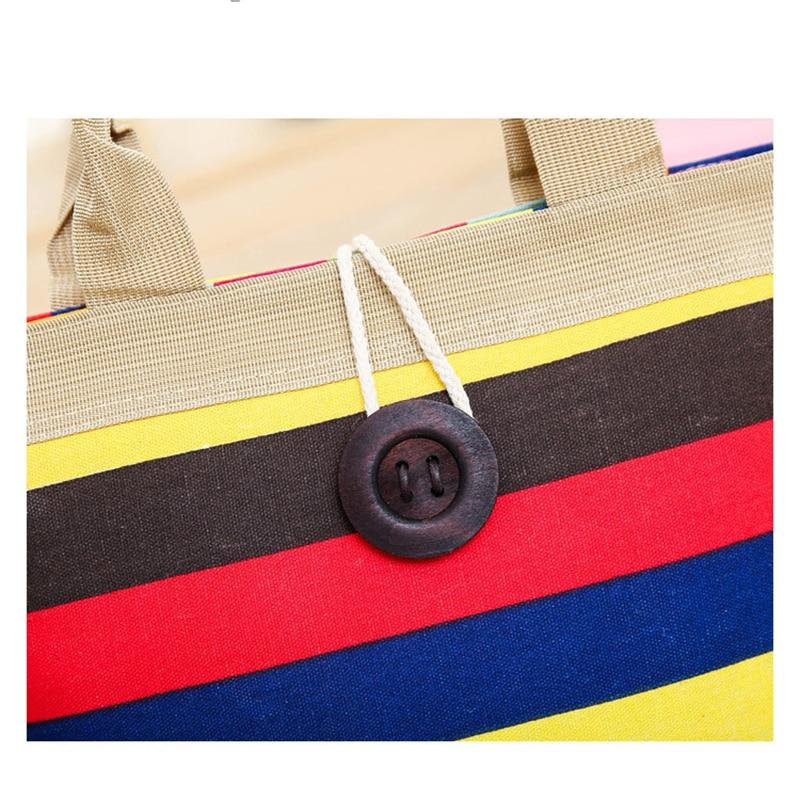 jf-l bolsas de grife de Canvas Bag Striped Shoulder : Women Bag