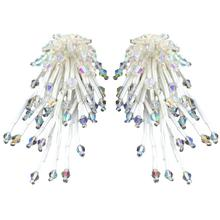 handmade New High quality crystal beads earrings Jewelry Hot Selling Elegant long Chrysanthemum drop