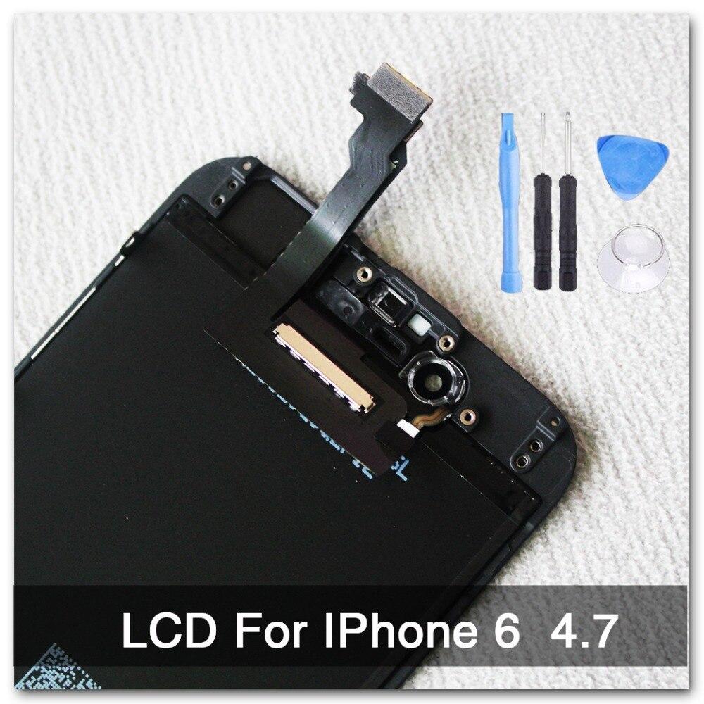 100% AAA qualidade Substituição Para iphone 6 LCD display + Montagem Digitador Da Tela de 4.7 polegada NO Dead PixelFor iphone 6 Tela