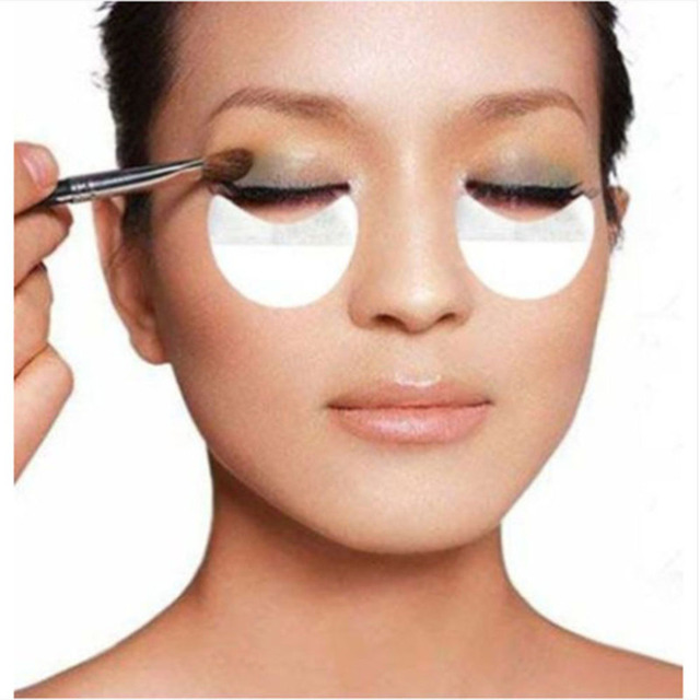 10pcs Pro Cotton Eyeshadow Shields Under Eye Patches Disposable Eyelash Extensions Pads Protect Pad Eyes Lips Makeup Tool 5