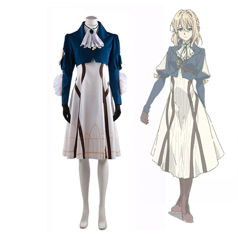 Violet Evergarden Anime vêtements cosplay costume robe ensemble complet mâle femme Cosplay Carnaval