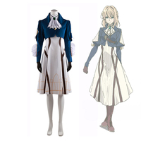 Violet Evergarden Anime clothes cosplay costume dress full set male female Cosplay Carnaval