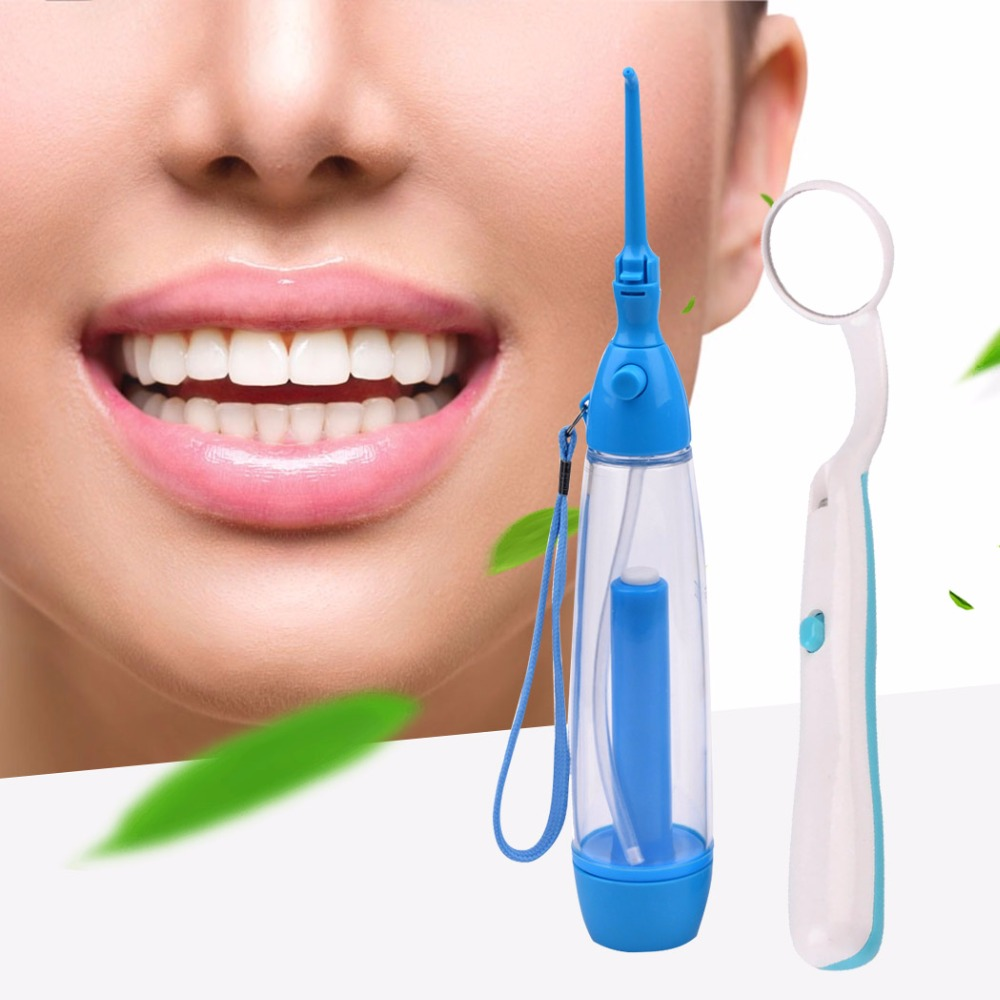 No Electricity Water Flosser Dental Floss Water Floss Oral Irrigator Irrigador+Mini Anti-fog Dental Mouth Mirror With LED Light nicefeel electric oral teeth dental water flosser dentistry power floss irrigator jet cleaning mouth cavity oral irrigador