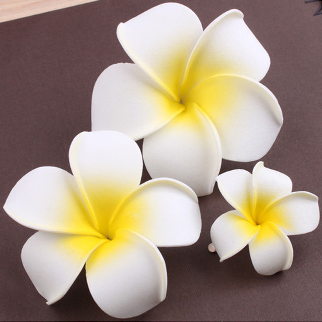Plumeria Flower Hairpin Bohemian Frangipani Hair Clip Bridal Hair Pins Bohemia Seaside Beach Accessories Gift For Girl Seaside