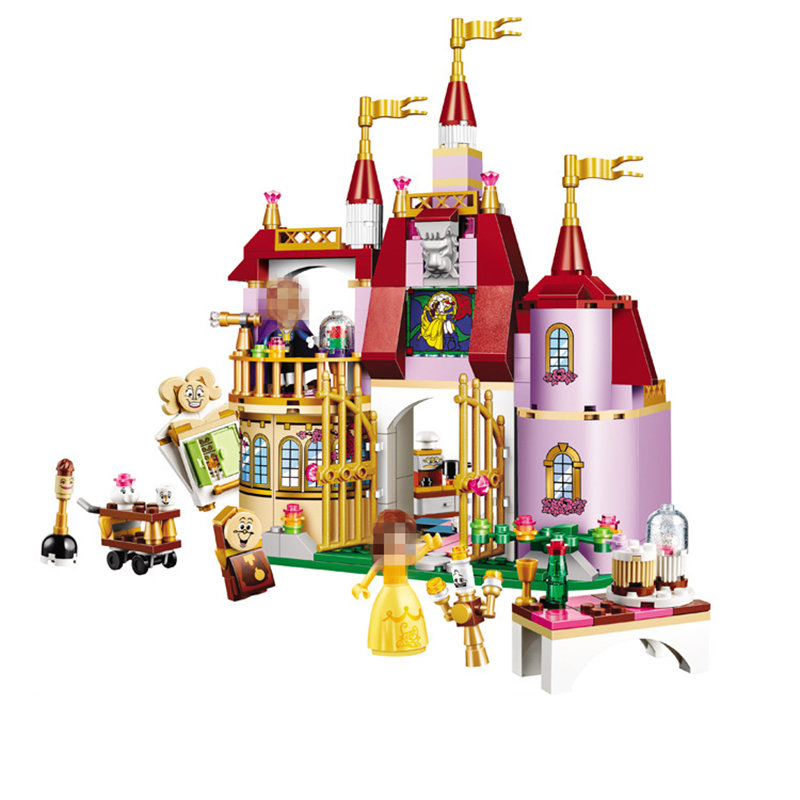 Beauty and The Beast Princess Belle's Enchanted Castle Building Blocks Girl Kids Toys Compatible with LegoINGlys Friends beauty and the beast princess bella beast pvc figures toys girls gifts 6pcs set
