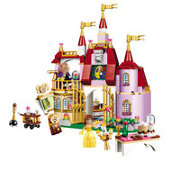 Beauty And The Beast Princess Belle S Enchanted Castle Building Blocks Girl Kids Toys Compatible With