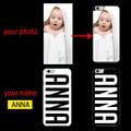 Nome personalizado foto da capa case para iphone 4 4s 5 5s 5c 5se 6 6 s 7 samsung s6 s7 borda mais nota 2 3 4 5 7 A3 A5 A7 J1 J5 J7 2016