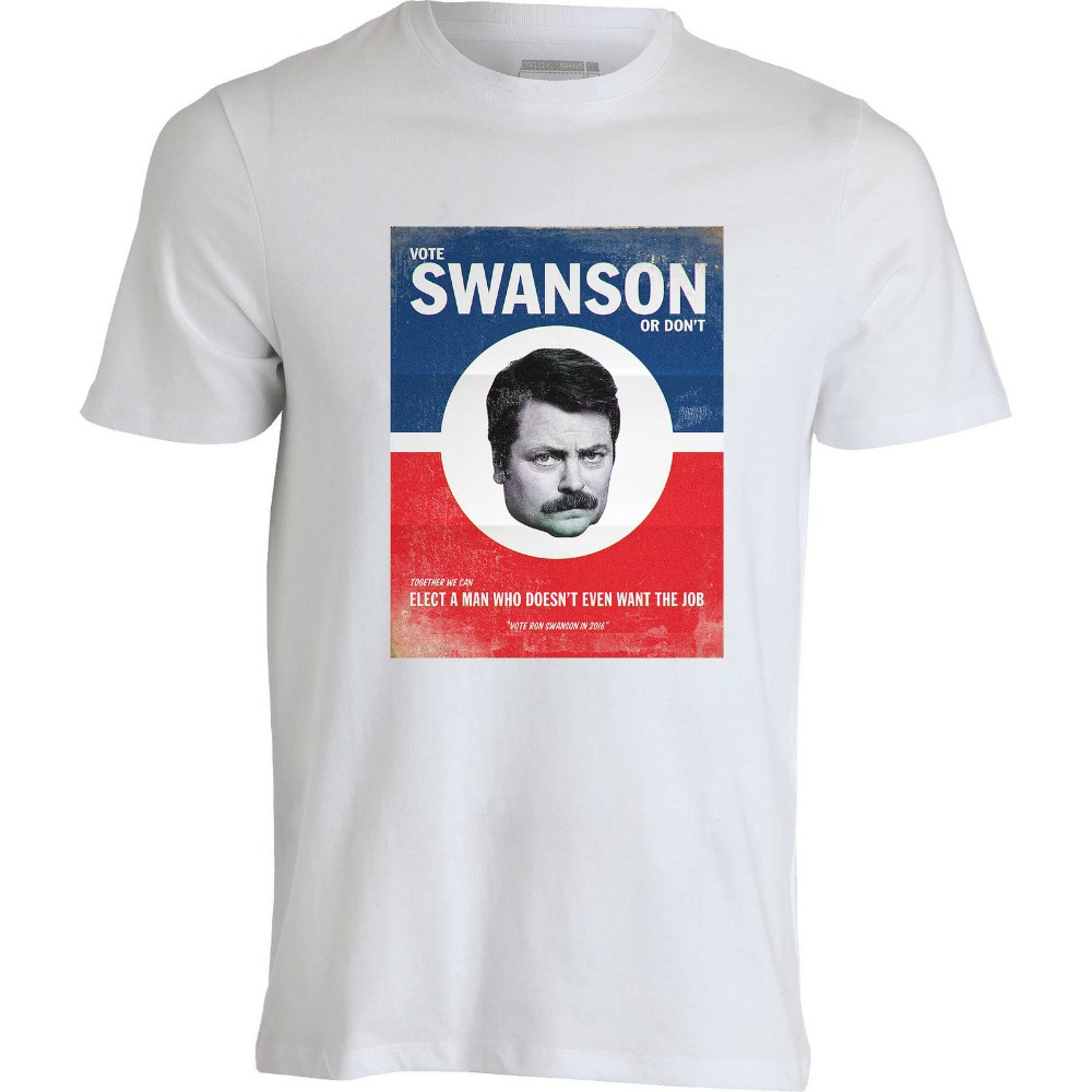 Vote Ron Swanson Or Don/'t Election Job Nick Offerman Funny TV Show Men/'s T-shirt