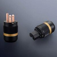 HIFI Um par viborg VM501 + VF501 Pure Red Copper EUA Plug power plug para cabo de alimentação DIY|plug us|plug powerus plug power -