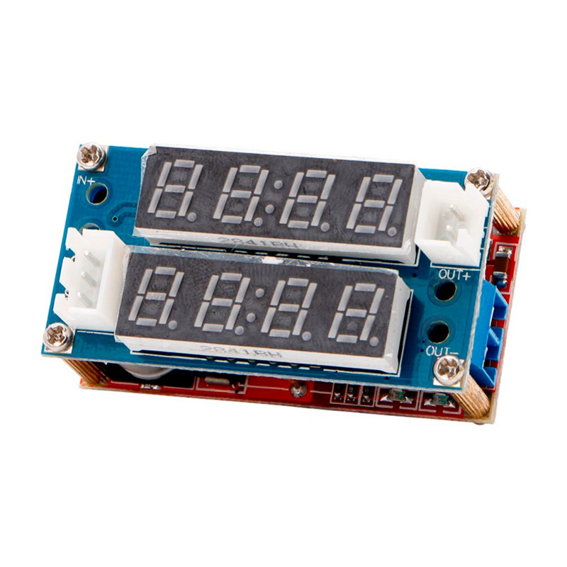 1PC 5A Adjustable Power CC/CV Step-down Charge Module LED Driver Voltmeter Ammeter Constant Current Constant Voltage 90w led driver dc40v 2 7a high power led driver for flood light street light ip65 constant current drive power supply