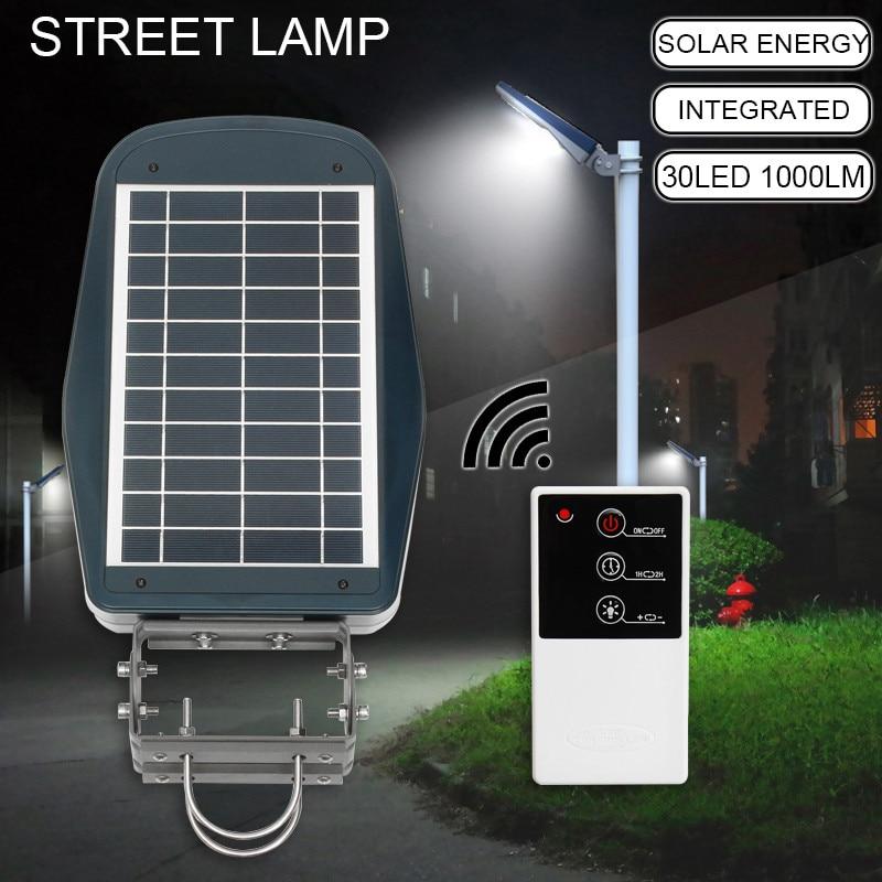 Mising 30 LED Solar Street Wall Light Outdoor Lamp Post Area Lighting Batteries Remote Garden Security Light цена 2017