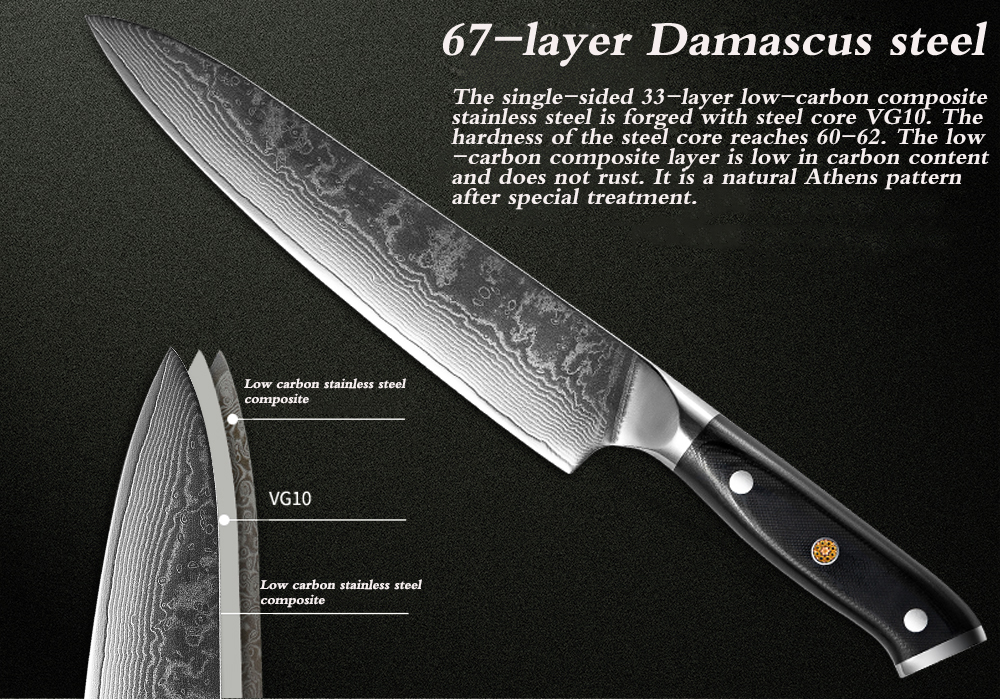 JAPANESE DAMASCUS CHEF KNIVES - Letcase Knives