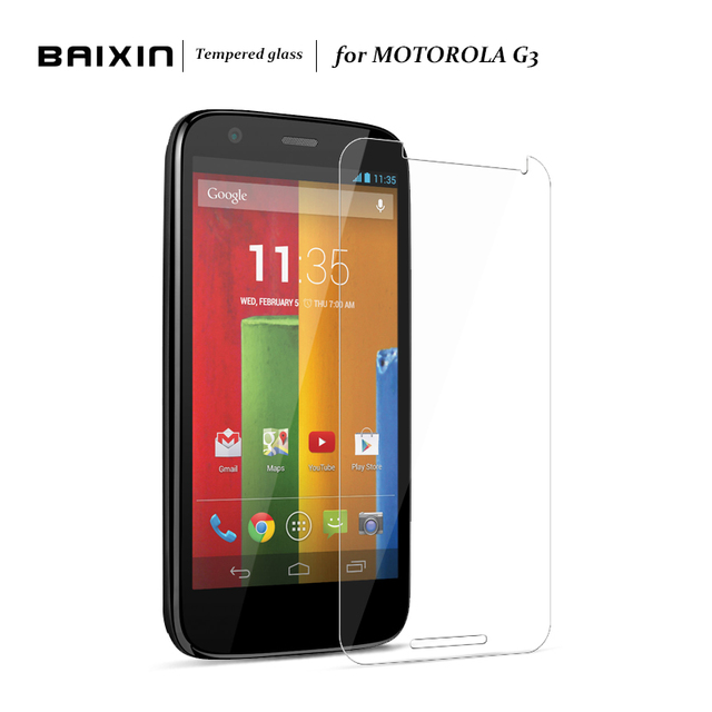 Baixin New 9H Tempered Glass For Motorola MOTO G3 Screen Protector For Motorola Moto G3 Phone Protective Film Anti-scratch