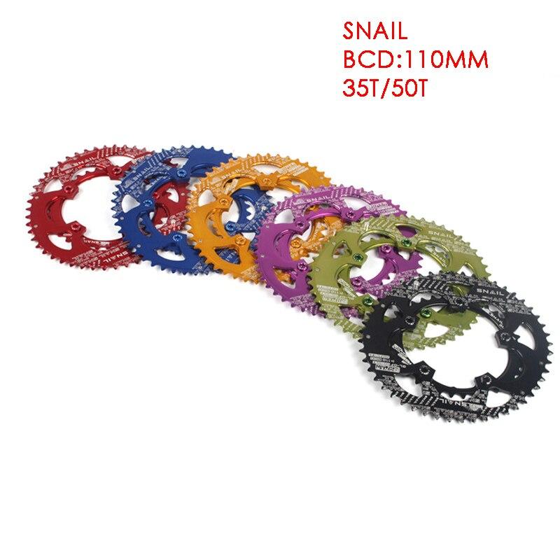 Vélo de route roue à chaîne 35/50 T aluminium 7075 CNC 110 BCD vélo ovale Ellipse escalade puissance plateau pièces de vélo