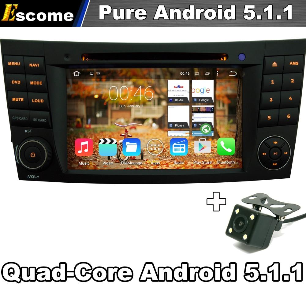 Чистая Android 5.1.1 Для Mercedes Benz CLS Class W219 G-Class W463 E-Class W211 С Quad Core Bluetooth Камера Заднего вида