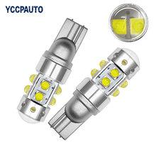 T10 luzes 194 w5w cree chip led branco 50 w com len projetor caso de alumínio lâmpadas drl interior do carro reversa fonte de luz 2 pçs novo
