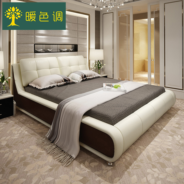 bedroom furniture sets modern leather king size storage bed frame with two nightstands no mattress b05k - Storage Bed Frame King
