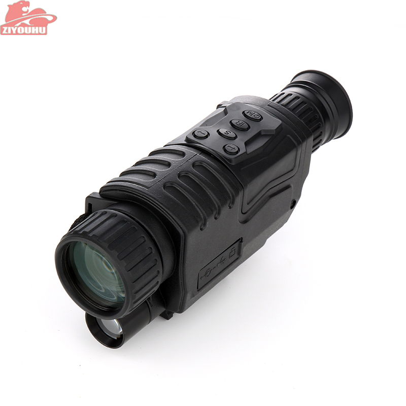 ZIYOUHU Professional Infrared Night Vision Monocular Digital Telescope HD for Hunting in the Night Long Range Monocular Scopes