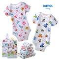 Babador 5 PCS 100% algodão infantil roupas de manga curta macacão impresso bebé menina Bodysuits # 133ssy