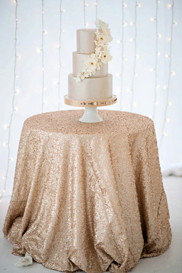 Best Choice 108inch Round Sequin Table Cloth Sparkly