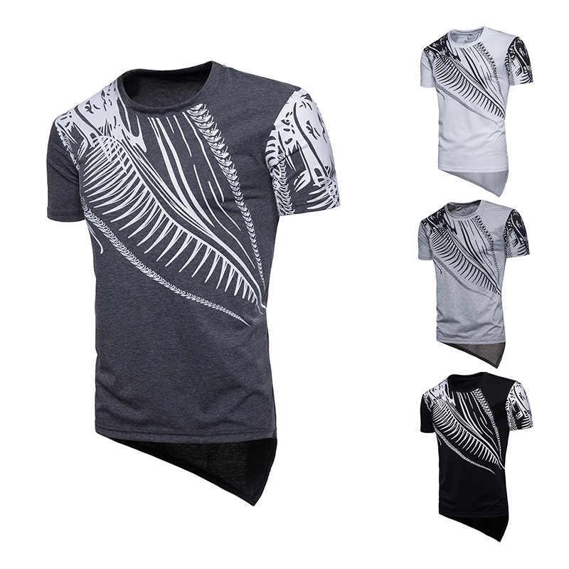 2018 мужская одежда летняя новая модель Европейский хип-хоп стиль дракон дизайн человек с коротким рукавом т жалость мужская индивидуальность футболка 15