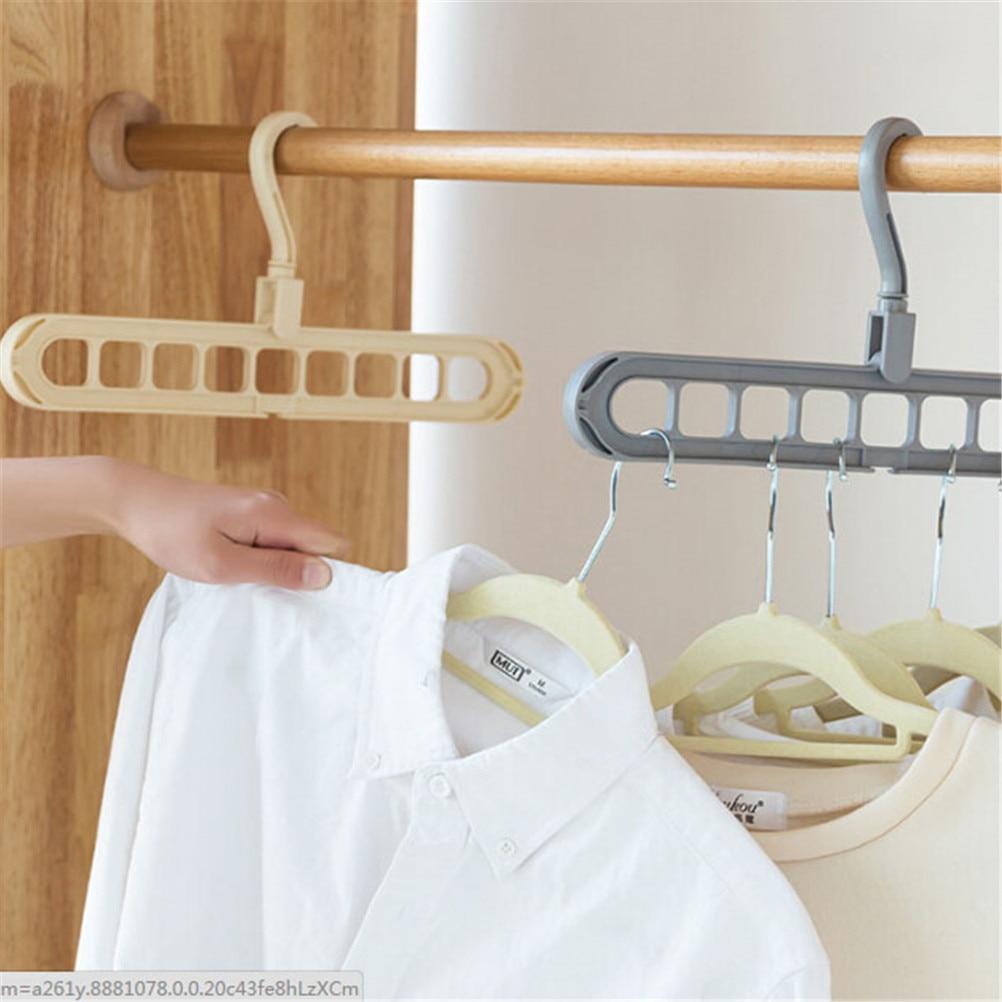 Organizer Clothes Hanger Holder Storage Rack Garment Drying Rack Rotating Rotate Clothing Closet Hook Home Organization Hangers