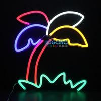 Christmas Decoration 2017 Custom LED Neon Sign Light Palm Tree Home Bar Restaurant Coffee Shop Beauty Party Neon Design Display
