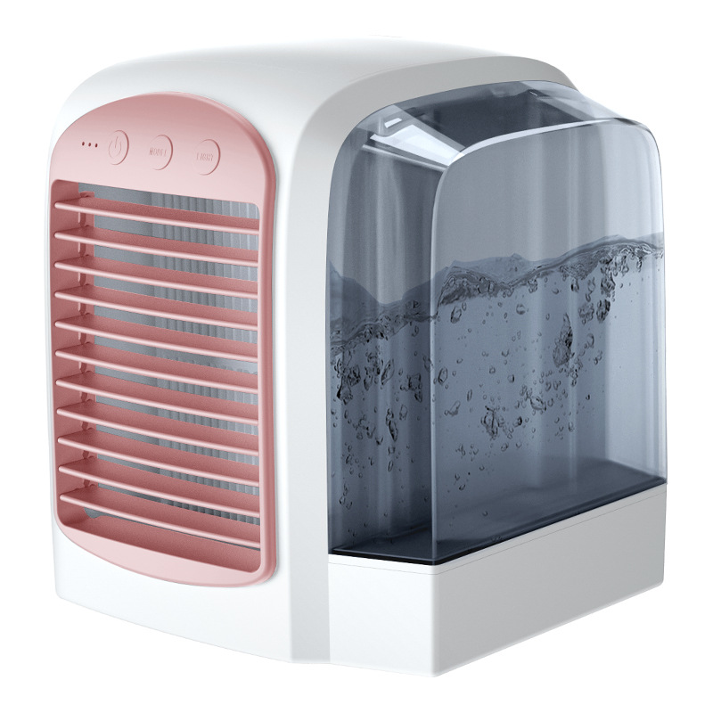 DEKAXI Portable USB Air Purifier Conditioner Humidifier Fan Air Cooler Mini Space Fans Personal Air Conditioner Device for home