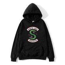 2019 New fashion men and women Southern snakeskin sweatshirts printed sweatshirt Harajuku hood cartoon correction