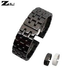 Bracelet de montre en céramique Pure bracelet de montre 17mm 20mm blanc noir bracelet de montre papillon boucle bracelet ceinture montre accessoires
