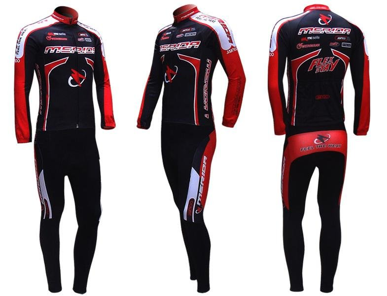 NEW Merida long sleeve cycling wear clothes bicycle/bike/riding jerseys+pants sets
