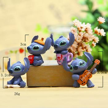Hot 4 sztuk zestaw Mini Stitch figurka zabawka zestaw Anime Stitch Action figurki prezent na boże narodzenie i lalki zaopatrzenie imprezy w domu dekoracje zabawki tanie i dobre opinie 3 lat 13-24 miesięcy 6 lat Dorośli 14 lat 12-15 lat 5-7 lat 8 lat 2-4 lat 3 lat 8-11 lat 0-12 miesięcy Model