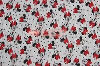 50*170 cm Klassische Cartoon Minnie elastizität Elastizität terry baumwolle stoff Zum Nähen Patchwork diy baby mädchen hemd kleidung rock
