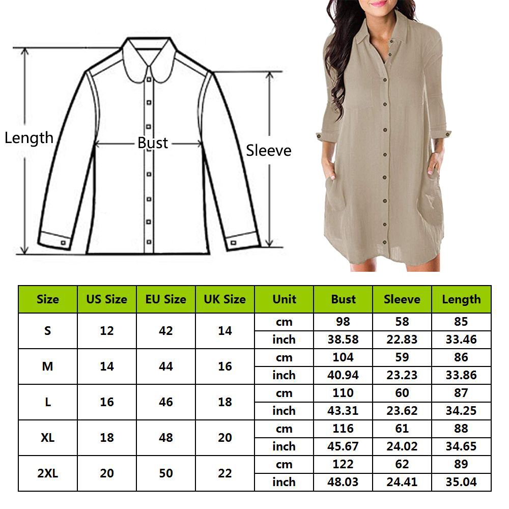 Women Loose Solid Dresses Turn Down Casual Ladies Office Shirt Dresses Button 2019 Summer Spring Long Women Loose Solid Dresses Turn Down Casual Ladies Office Shirt Dresses Button 2019 Summer Spring Long Sleeve Dresses Vestidos